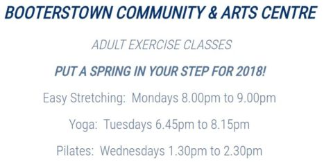 2018 Adult Exercise Classes